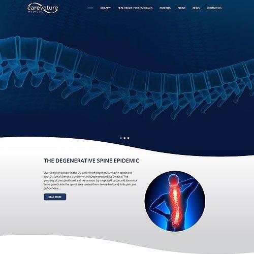 Carevature – עיצוב ופיתוח אתר וורדפרס