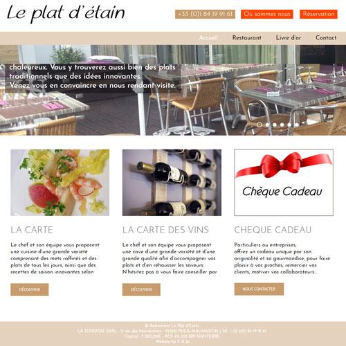 Le plat d'étain – שרות פוטושופ לוורדפרס למסעדה צרפתית